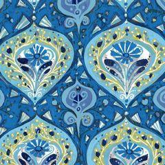 F - Garden For Olivia, Medallian, Blue
