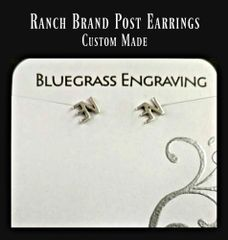 Ranch Brand Post Earrings, Your Brand