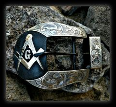 Masonic Ranger Belt Buckle Set