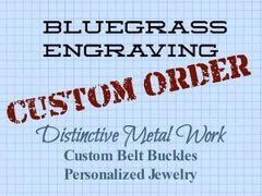 Custom buckle order for Greg K. Part 2
