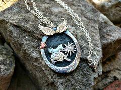 Pig Pendant, Sterling Silver Livestock Pig Necklace