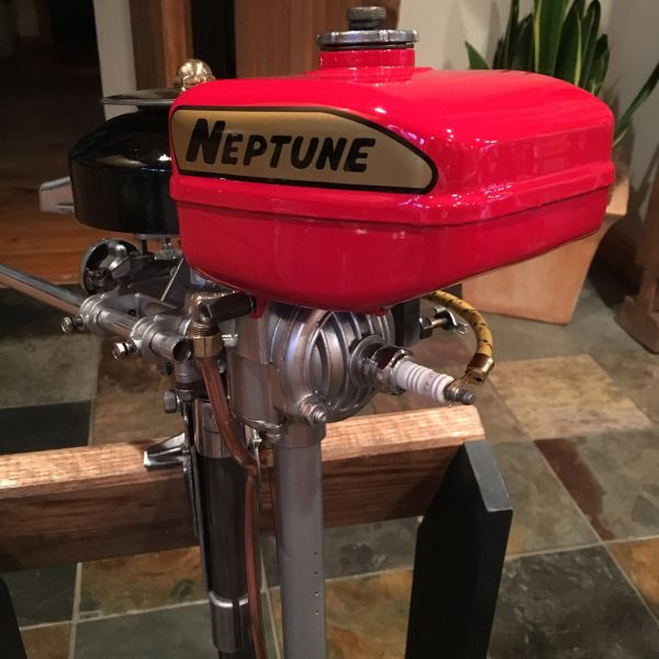 neptune aa mighty mite antique vintage outboard motor restored bymers motor works