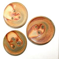 Set of 3 Woodfired Plates 0002