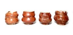 Set of 4 Eclectic Shino Cups