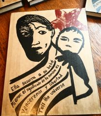 Sketchbook - hardcover and handscreened with justice art