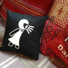 Protest Girl Pillow