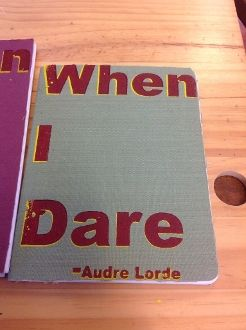 When I Dare notebook Journal