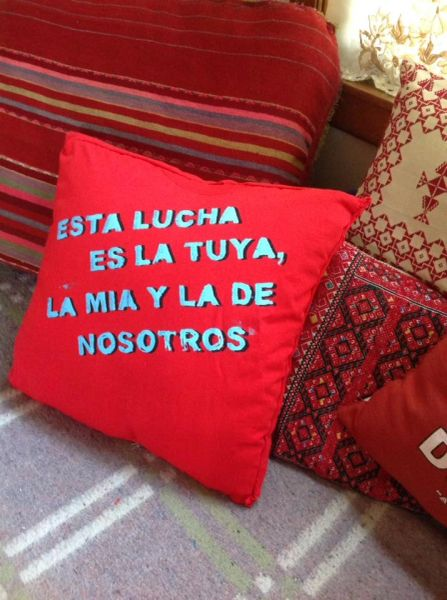 Esta Lucha Es La Tuya Pillow- The Struggle is Yours, Mine and Ours in Spanish Language