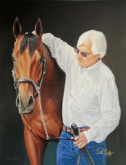 American Pharoah and Bob Baffert Officially Licensed Dual Signed Limited Edition Canvas Giclee - SOLD OUT