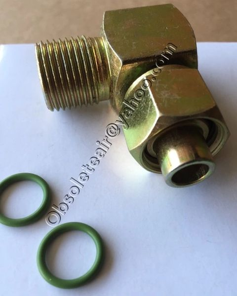 6 90 Degree Male O Ring To 6 Female O Ring Adapter