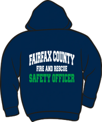 Fairfax County Fire and Rescue Safety Officer Heavyweight Zipper Hoodie
