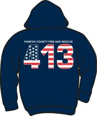 FS413 Flag Heavyweight Zipper Hoodie