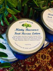 Minty Beeswax Foot Rescue Lotion
