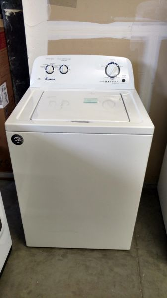 Amana - 3 5 Cu  Ft  8-Cycle Top-Loading Washer - White