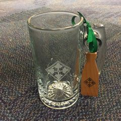 4th ID beer mug with bottle opener set