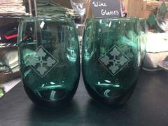 Green Stemless 4ID Wine Glass