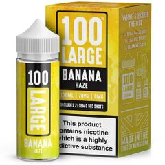 BANANA HAZE ELIQUID BY 100 LARGE 100ML