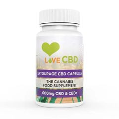 Love CBD Entourage Capsules 600mg (10mg x 60)