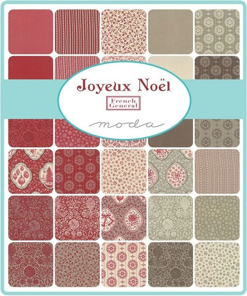 Moda Joyeux Noel By French General Charm Pack 10 Quot Squares