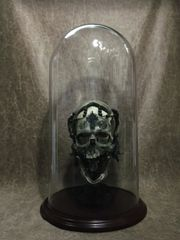 11.75 X 23 Glass Dome for Displaying Zane Wylie Carved Skulls
