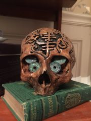 SOLD - Chinese Ancestry of Wealth Carved Skull