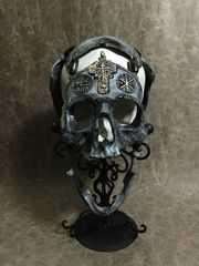 9th Run - Signed and Numbered - The War Chaplain - Real Human Skull Replica Carved By Zane Wylie