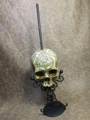 Hogwartz Graduation Real Human Skull Replica Carved by Zane Wylie
