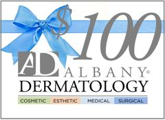 Receive a $25 AD Cares Card with your Albany Dermatology $100 Gift Certificate