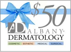 Receive a $10 AD Cares Card with your Albany Dermatology $50 Gift Certificate