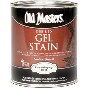 OLD MASTERS GEL STAIN QT DEEP RED RICH MAHOGANY 84304