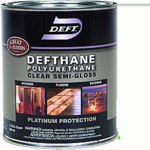 DEFT DEFTHANE POLYURETHANE SEMI-GLOSS INT/EXT QT 02304