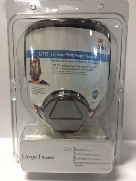 3M LARGE FULL FACE RESPIRATOR 69P71