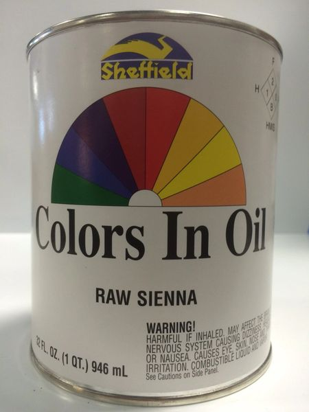 SHEFFIELD BRONZE COLORS IN OIL QT RAW SIENNA