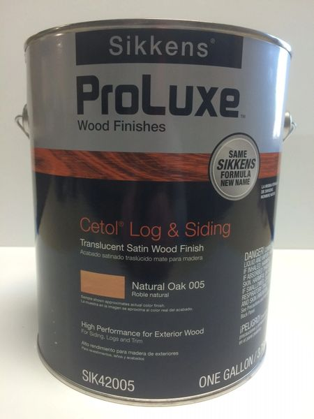 SIKKENS PROLUXE CETOL LOG & SIDING 005 NATURAL OAK EXTERIOR STAIN GALLON