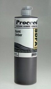 GOLDEN PROCEED SLOW DRY FLUID ACRYLIC BURNT UMBER 8OZ