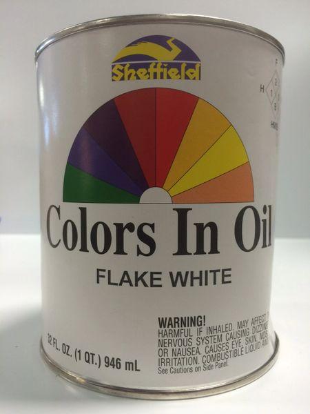 SHEFFIELD BRONZE COLORS IN OIL QT FLAKE WHITE