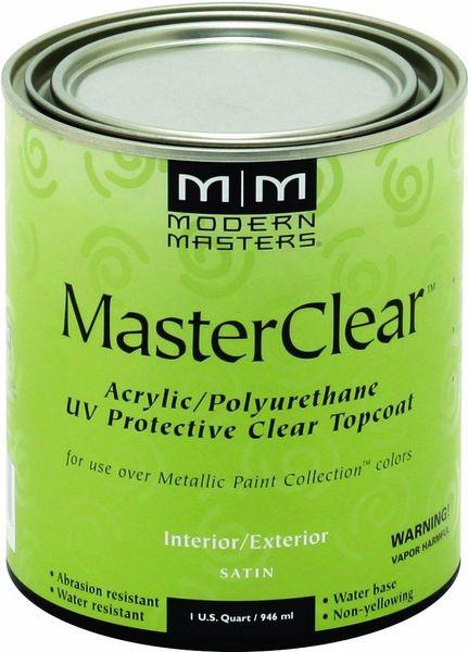MODERN MASTERS MASTER CLEAR METALLIC TOPCOAT SATIN QT ME66432