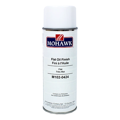 MOHAWK FLAT OIL FINISH CLEAR AEROSOL CANS M102-0424
