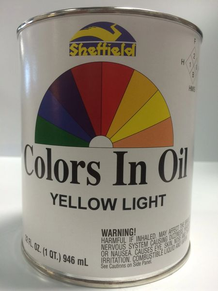 SHEFFIELD BRONZE COLORS IN OIL QT YELLOW LIGHT