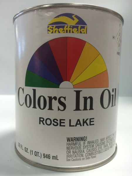 SHEFFIELD BRONZE COLORS IN OIL QT ROSE LAKE