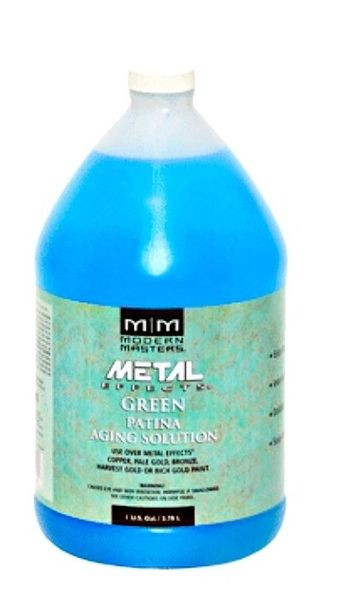 MODERN MASTERS GREEN PATINA AGING SOLUTION GALLON PA901GAL