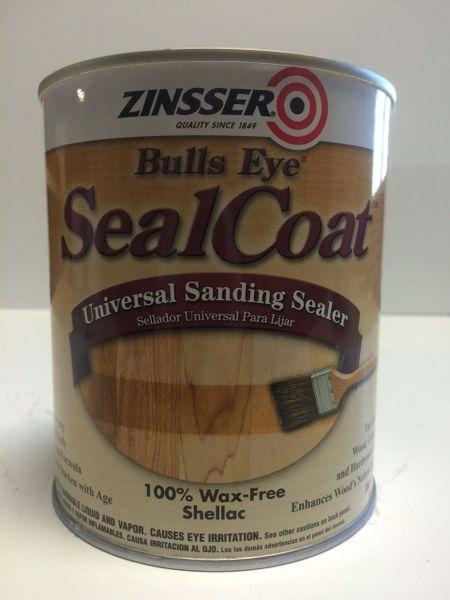 ZINSSER SEALCOAT UNIVERSAL BRUSHABLE SANDING SEALER QUART 00854