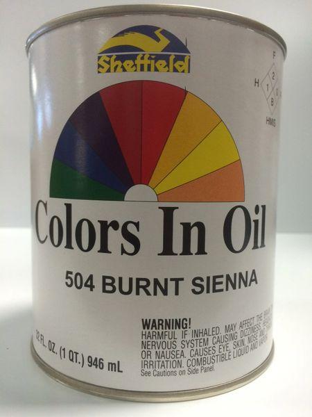SHEFFIELD BRONZE COLORS IN OIL QT BURNT SIENNA