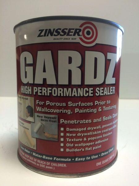 ZINSSER GARDZ DRYWALL SEALER CLEAR QUART 02304