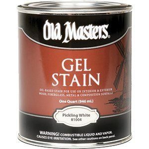 OLD MASTERS GEL STAIN QT PICKLING WHITE 81004