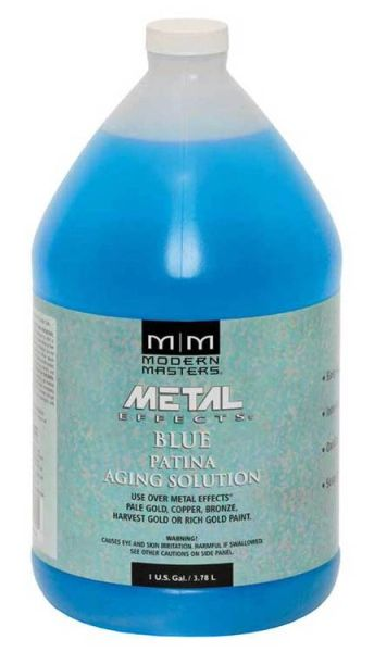MODERN MASTERS BLUE PATINA AGING SOLUTION GALLON PA902GAL
