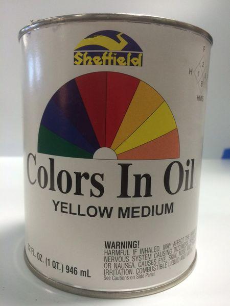 SHEFFIELD BRONZE COLORS IN OIL QT YELLOW MEDIUM