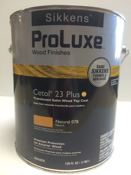 SIKKENS PROLUXE CETOL 23 PLUS 078 NATURAL EXTERIOR STAIN GALLON