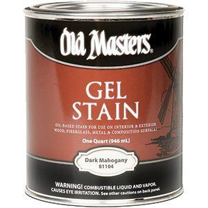 OLD MASTERS GEL STAIN QT DARK MAHOGANY 81104