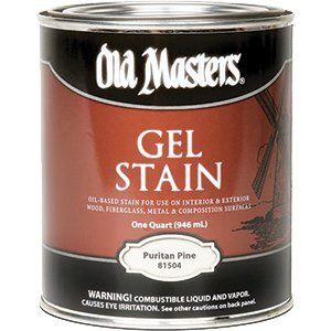 OLD MASTERS GEL STAIN QT PURITAN PINE 81504